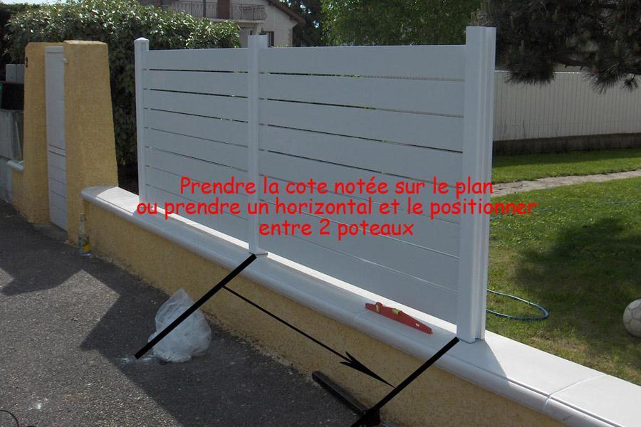 fiches de montages pour les clotures et barrieres pvc les explications plastic line. Black Bedroom Furniture Sets. Home Design Ideas